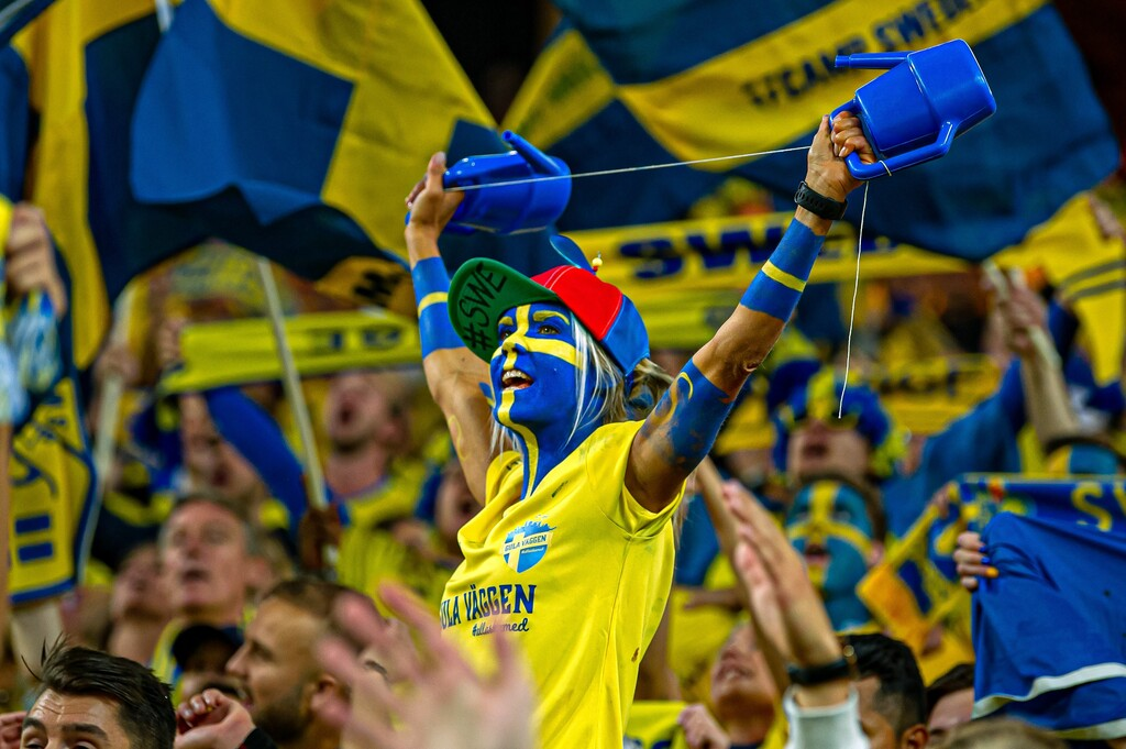 Svensk supporter i hejarklacken